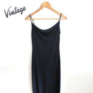 Vintage Y2K Square Neck Strappy Maxi Dress S
